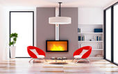 Modern of living room interior modern style concept — Stock Photo