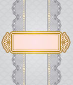 Vintage background with lace ornaments . — Stock Vector