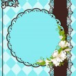 Vintage background with lace ornaments and flowers — Imagen vectorial
