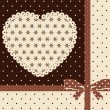 Vintage tapestry background with heart — Stock Photo #12594955