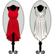 Stock Photo: Vintage dresses