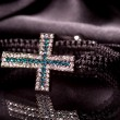 Bracelet with cross — Stockfoto