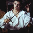 Portrait of a romantic man with a sword - Foto de Stock