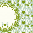 Beautiful easter card. Vector background. — Stock Photo