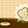 Vintage background with flowers and lace ornaments. Vector illustration for Valentine's day — Stock Photo #24228085