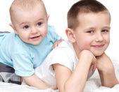Little brothers portrait — Stock Photo