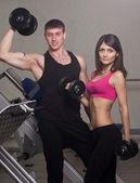 Fitness woman and man — Stock Photo
