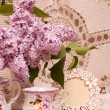 Royalty-Free Stock Photo: Vintage teacup with spring flowers lilac