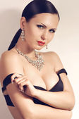 Fashion woman with jewelry bijouterie — Стоковое фото