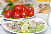 Herring on a plate — Stock Photo