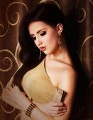 Gorgeous woman jewelry — Foto de Stock