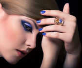 Woman with jewelry ring — Stock Photo