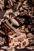 Jewel bijouterie in gift box — Stock Photo