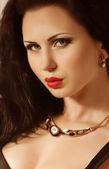 Woman with jewelry — Fotografia Stock