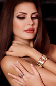 Woman with jewelry bracelet — Foto de Stock