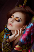 Young woman with makeup — Stock Photo