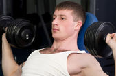 Young muscular sports man — Stock Photo