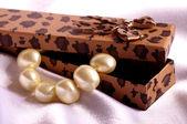 Beautiful bijouterie in gift box — 图库照片