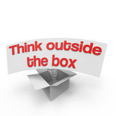 Think outside the box VI — Stock Photo
