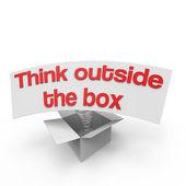 Think outside the box VI — Stock Photo