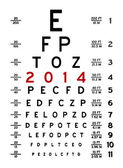 Eye Chart I — Stock Photo