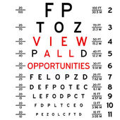 Eye chart — Stock Photo