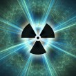 Stock Photo: Nuclear radiation symbol