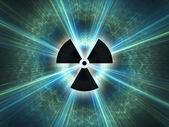 Nuclear radiation symbol — Stock Photo