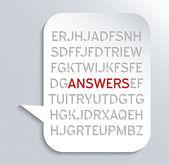 Antwoorden — Stockfoto