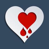 Serce krwawi — Zdjęcie stockowe