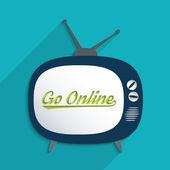 Go online — Vetor de Stock