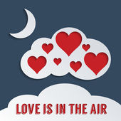 Love is in the air — Stock Vector