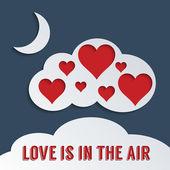 Láska je ve vzduchu — Stock vektor