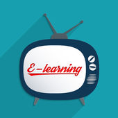 E-learning — Stockvektor
