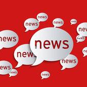 News balloons — Stock Vector
