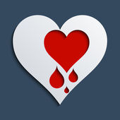 Bleeding heart — Stockvector