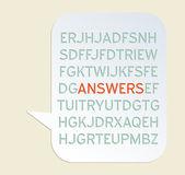 Antwoorden — Stockvector