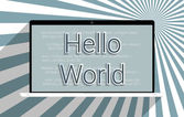Hello World — Stock Photo