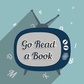 Idź czytać książki — Wektor stockowy