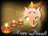 Abstract diwali card with ganesh ji — Stock Vector
