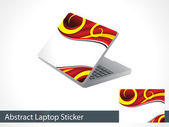 Abstract leptap sticker — Stock Vector