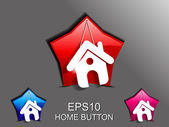 Abstract glossy home icon — Wektor stockowy