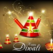 Royalty-Free Stock Vector Image: Abstract diwali background with cracker