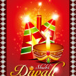Abstract diwali background with sparkle — Stock Vector