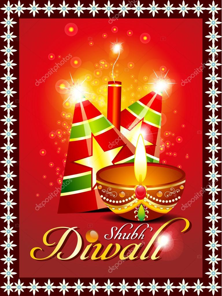 Abstract diwali background with sparkle vector illustration   Stock Vector #13534658