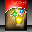 Abstract christmas flayer card — Stock Vector #13851064