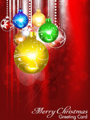 Abstract christmas background with christmasball — Stock Vector