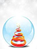Abstract glossy christmas glass — Stock Vector