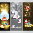 Abstract christmas Banner & new year banner — Векторная иллюстрация
