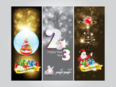 Abstract christmas Banner & new year banner — Stock Vector
